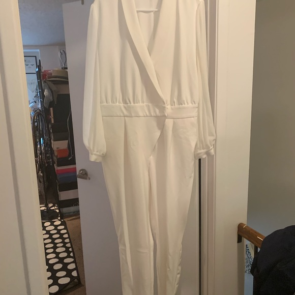 New York & Company Other - White Gabrielle Union New York & Company Jumpsuit